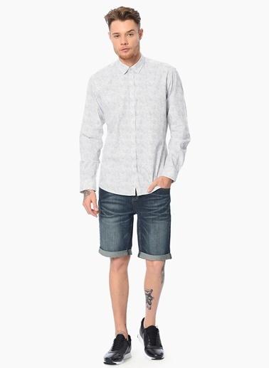 Que Slim Fit Uzun Kollu Gömlek Gri